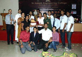 Joshiana 2.0 Beta Overall Champions Trophy was bagged by MSc team of AIMIT, Mangalore